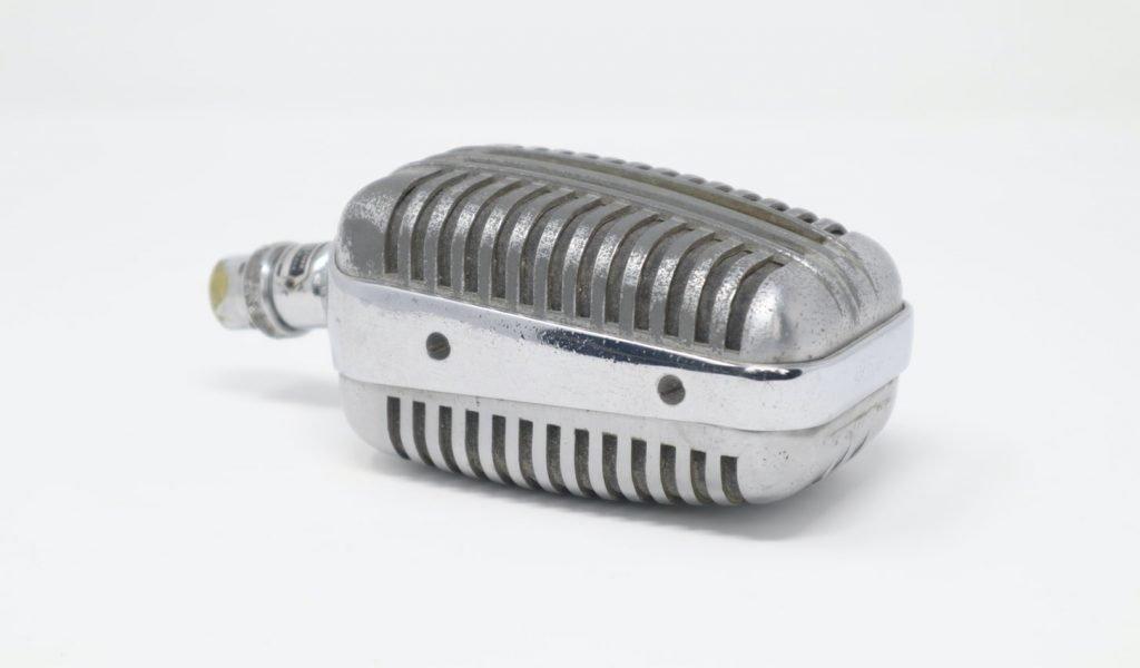 vintage microphone closeup