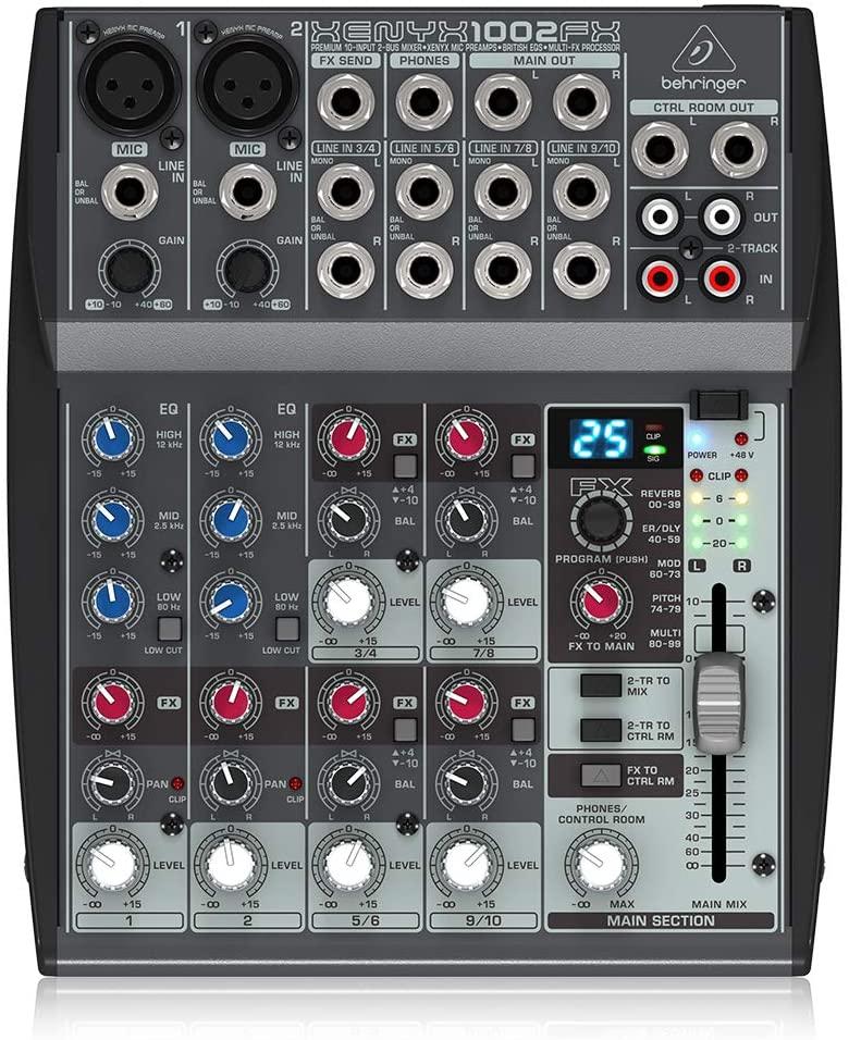 behringer Xenyx 1002FX USB Mixer Online radio station