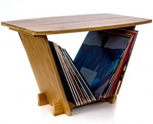Vinyl Records Holder Turntable Stand
