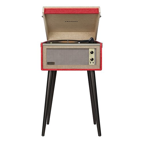 crosley vintage record player removable legs