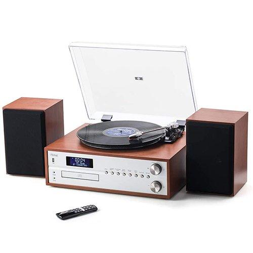 vintage turntable cd player dab radio